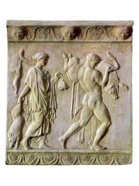 Bassorilievo in terracotta Ercole fatiche greco romano
