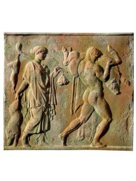 Bassorilievo in terracotta Ercole