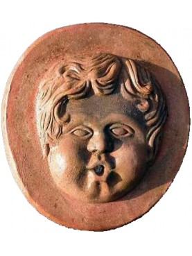 Puttino per fontana in terracotta Robbiano