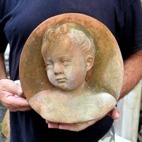 Oval terracotta basrelief - Andrea Della Robbia