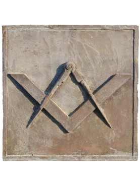Masonic symbol with Square and Compasses