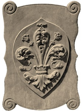 Large Terracotta Plaque with Florence lily blazon