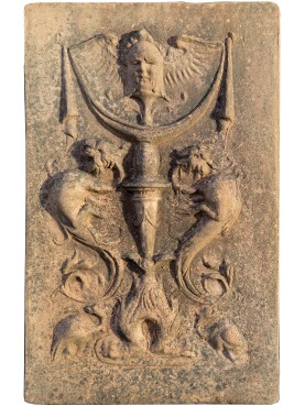 Basrelief in terracotta
