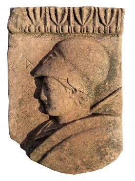 Athena - Greek terracotta bas-rilief