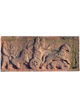 Biga e arcieri Persiani bassorilievo in terracotta
