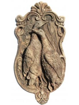 Terracotta basrelief hunting scene - Mallard