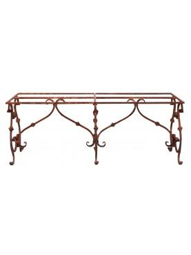Base per tavolo di ferro battuto 200 cm