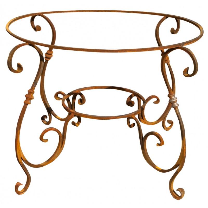 Base per tavolo in ferro battuto rotondo Ø 90 cm - Recuperando