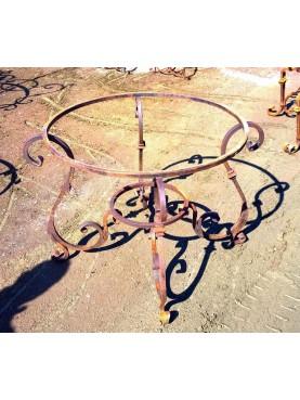 Base per tavolo in ferro battuto rotondo Ø 90 cm