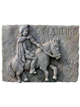 San Martino white Carrara marble basrelief