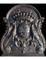 Lastra in ghisa per camino armi di francia 1743