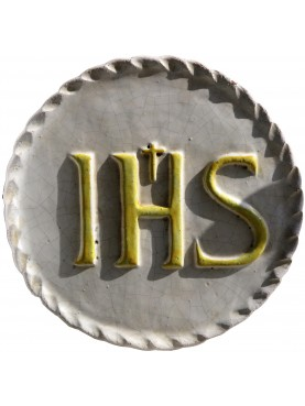Majolica basrelief IHS