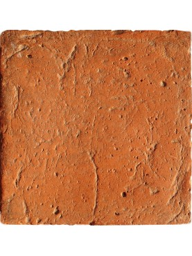Terracotta 20 x 20 cm red color smoothed