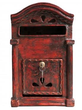 Cassetta delle lettere in maiolica rossa