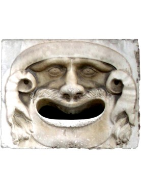 White Carrara Marble post box ancient model
