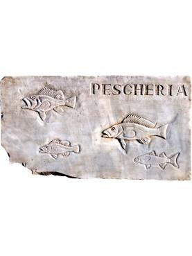 Insegna di PESCHERIA nostra produzione 4 pesci