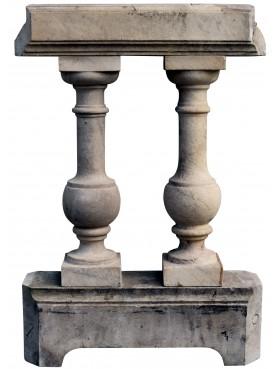 Marble balustrade original ancient from Carrara 29 pieces