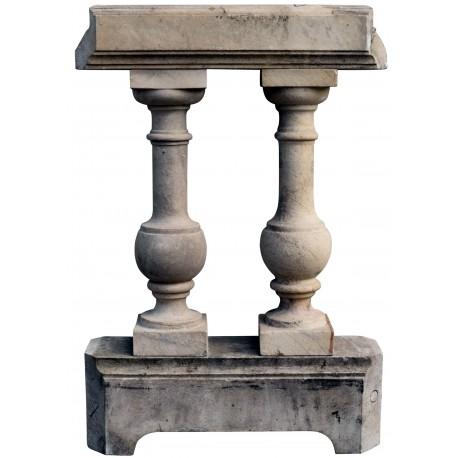 Marble balustrade original ancient from Carrara