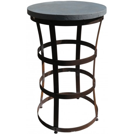 Stone and wrought iron table - our production
