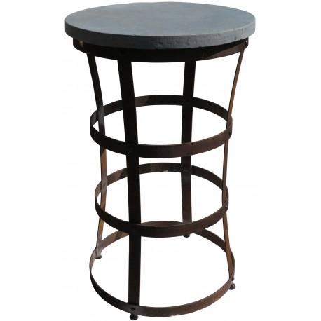 Tavolino in ferro alto di nostra produzione - cerchi di botte