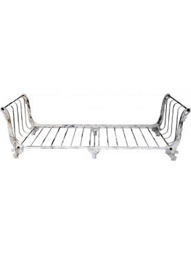 Gooseneck settee wrought iron bench