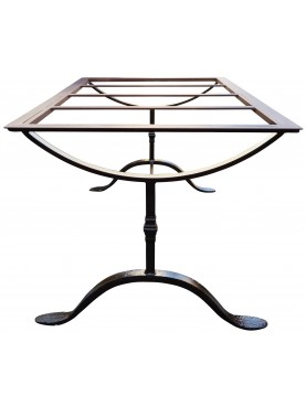 Forged iron table base