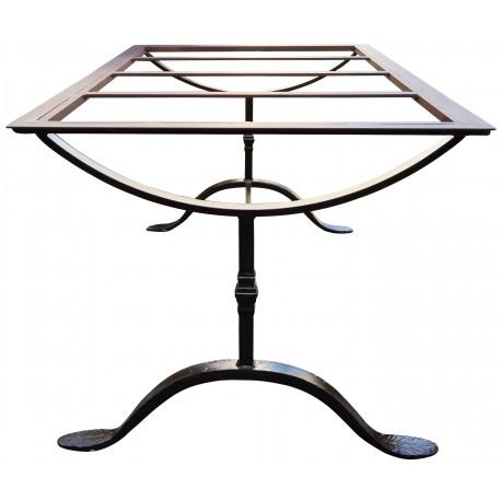 Base per tavolo in ferro battuto - piano allargato - Recuperando