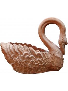 Swan terracotta cachepot