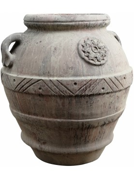 Tuscan jar H.100cms Impruneta clay with patina