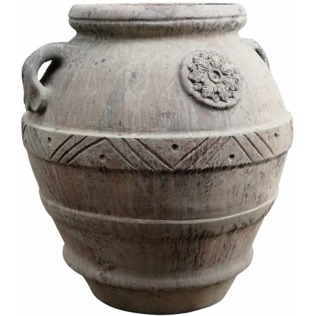 Tuscan jar H.100cms Impruneta clay with patina