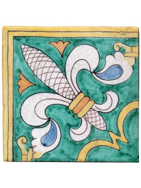 Reproduction of a tile from Tuscany of Reinassance period