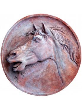 Big Horse Head in Terracotta - left