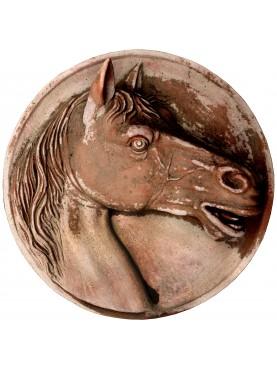 Tondo con Cavallo in Terracotta - modello piccolo