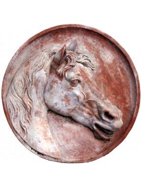 Tondo con Cavallo in Terracotta