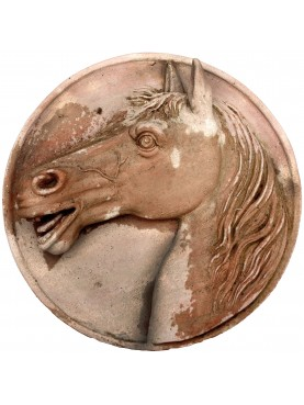 Horse Head left in Terracotta - small size