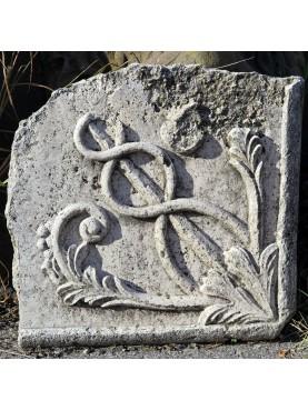 Travertine fragment relief