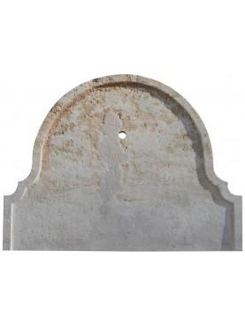 Grande frontale per fontana in pietra calcarea
