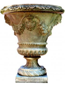 Grande vaso a calice con stemma Mediceo