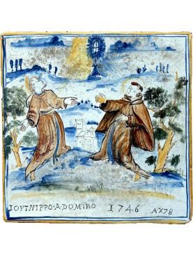 Pannello sacro, San Francesco e Sant'Antonio da Padova