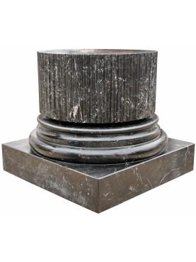 Large black marquina marble base H.60cms/Ø59cms