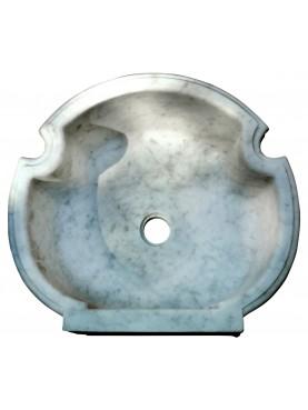 Lavandino trilobato in marmo nostra riproduzione