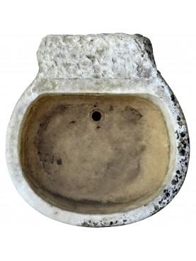 Ancient Italian white carrara marble sink