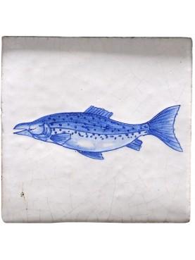 Piastrella pesce di Delft - Salmone