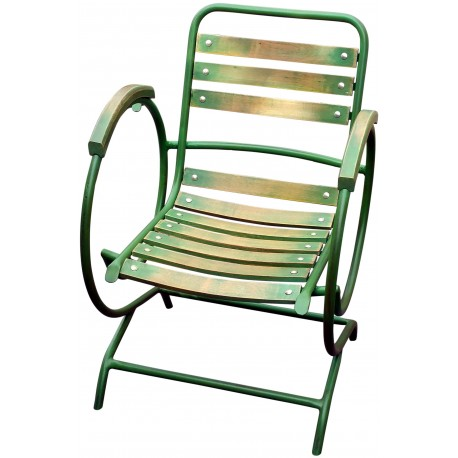 Armchair forged iron and beech