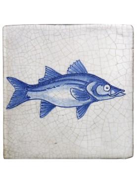 Fish Tiles of Delft - Sea Sturgeon - Majolica