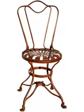Piccola Sedia in ferro battuto francese