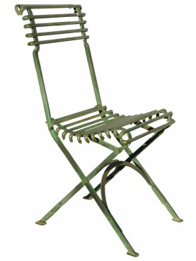 Small flexible forge iron chair