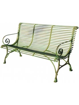 Forged Iron Bench three seats