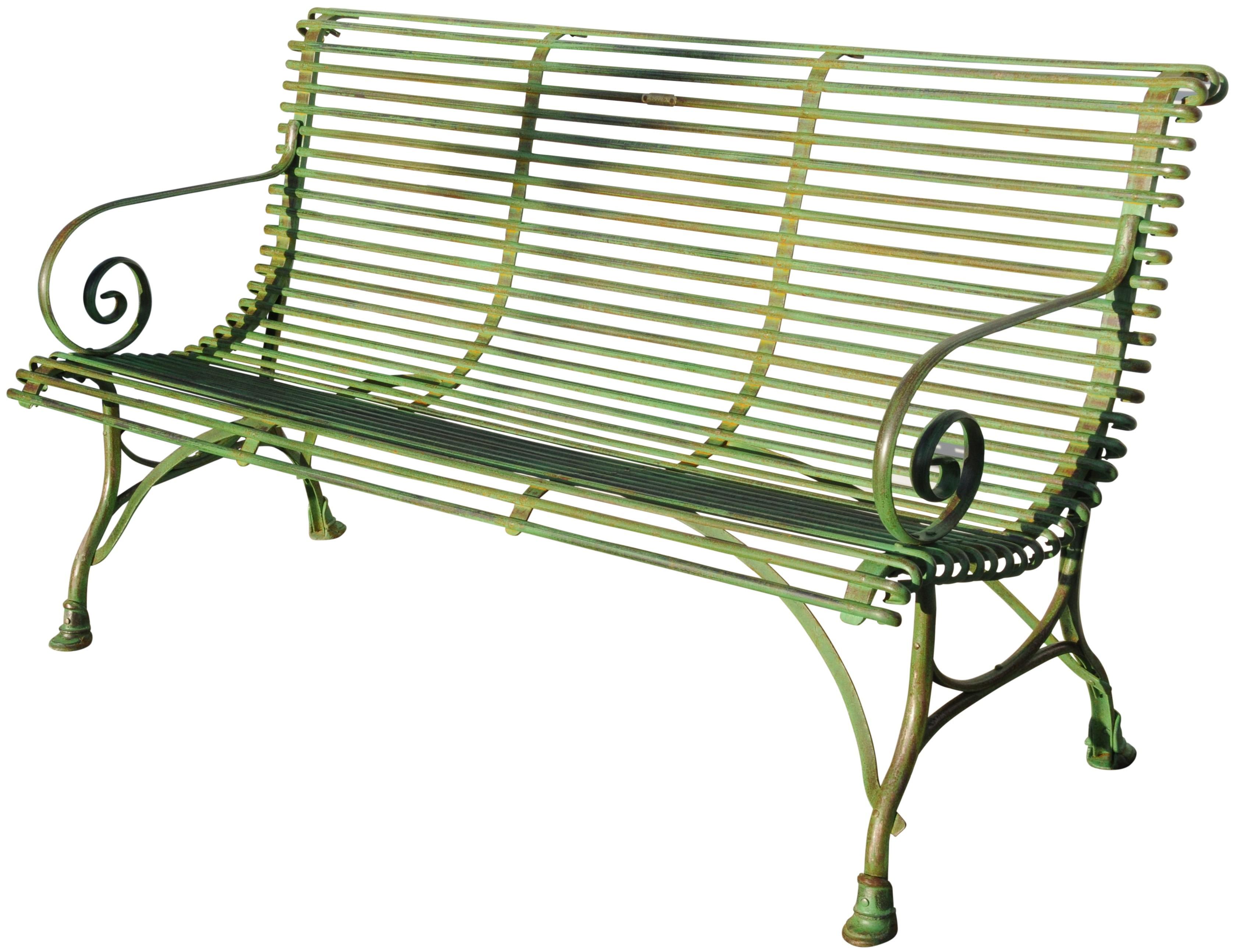Panchina 148 cm in ferro battuto a 3 posti