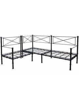 Corner settee iron bench - our production